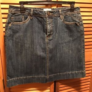 Dress Barn Blue Denim Jean Skirt